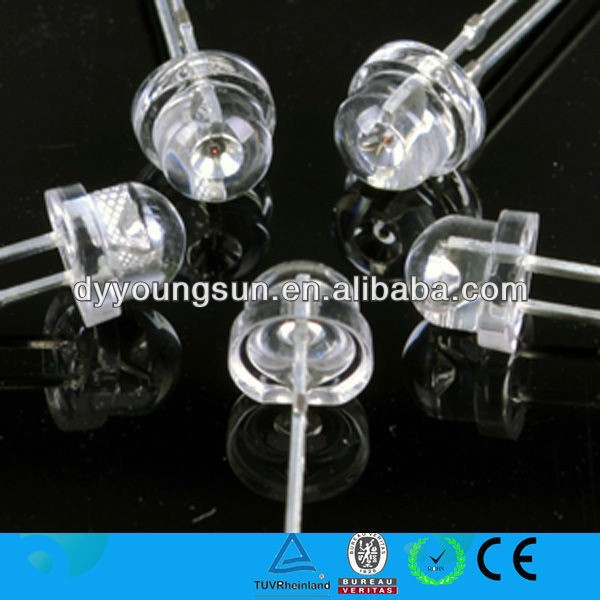 DY 5mm Superbright Transparent Straw Hat LED RGB Slow Flash Automatic 5 mm DIP Light Emitting Diode LED Diode