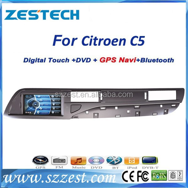 ZESTECH touch screen car dvd gps for Citroen C5 GPS/Radio/3G/Phonebook/mp4/mp5/USB/DVR/SWC