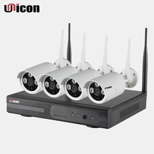 Unicon Vision security wifi ip camera poe system 4ch nvr kit