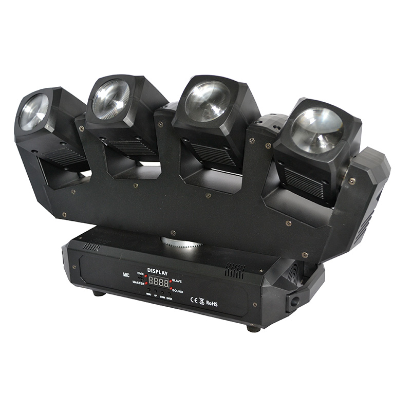 Dj Matrix 4PCS 10W LED Rotating Matrix Light LED Moving Head RGBW 4 in 1 LED Matrix <strong>Beam</strong> Light
