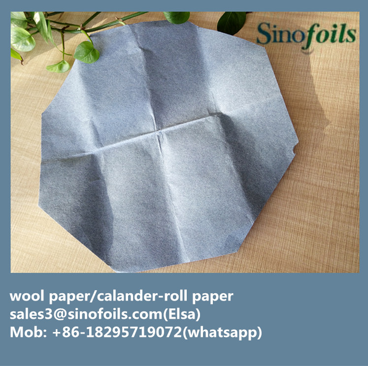 Raw material Wool paper to made wool calendering paper roller