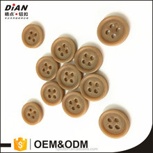 DIAN ,Brown plastic round button,18L wooden look sewing button for shirt & kid's clothing