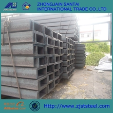 ASTM A36, S235 JRG2, black steel Galvanized U channel Steel