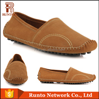 New fashion brown color nubuck leather men driving Shoe male breathable casual flat boat shoes Italy men casual shoe