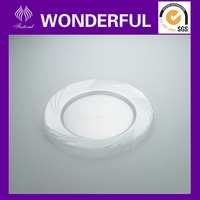 "EA-01 6.6"" disposable clear plastic round tray"