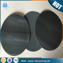 80 mesh black wire cloth filter disc/stainless steel extruder mesh screen/low carbon filter disc