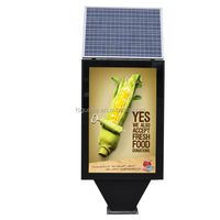 modern outdoor double side advertising solar Light Box,rectangle glass display standing lighing box