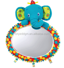 baby car mirror animal toy/infant car mirrors/elephant car mirror plush toy