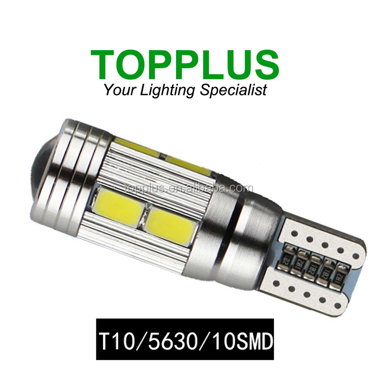 T10 Canbus 5630 10SMD ,high power super can bus led car bulb,led car light