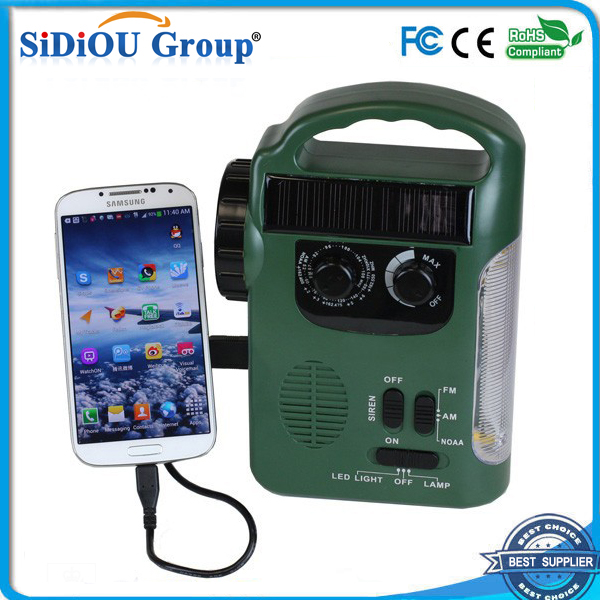 solar led lantern with lithium battery/ phone charger