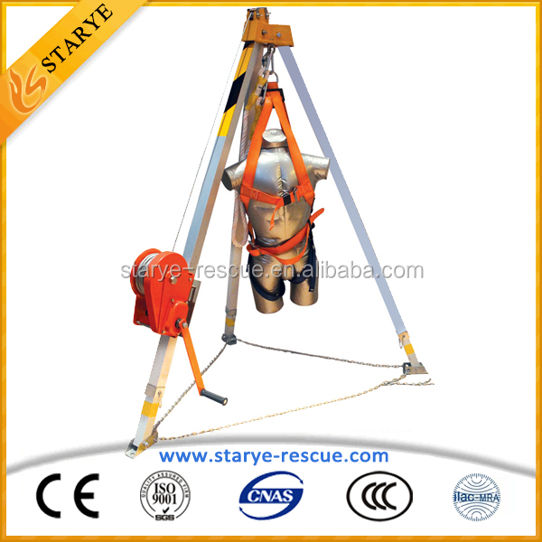 Fall Arrest And Recovery Systems Tripod Rescue System