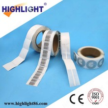 Highlight EAS system anti theft 8.2mhz retail security printable barcode label 4x4cm security eas rf label