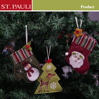 Wholesale fashion design holiday card holder tree ornament mini christmas stockings