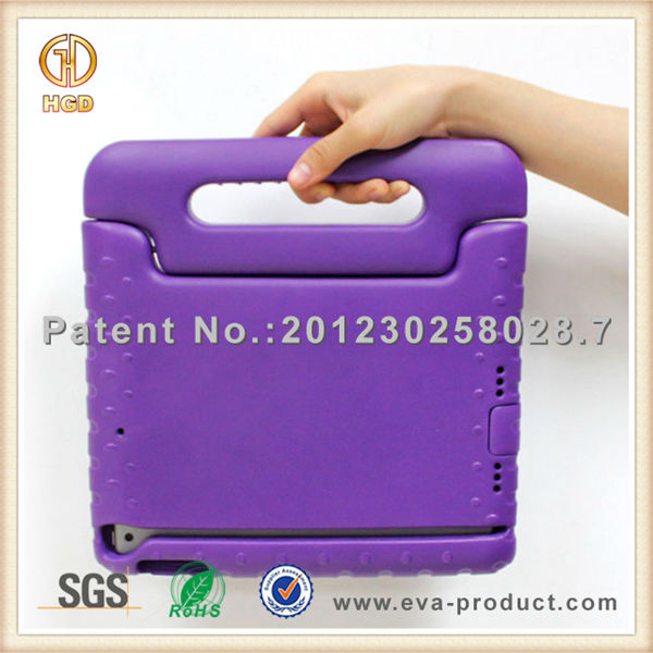 Children shockproof foam eva case cover for ipad 5 with handle