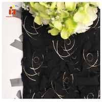 HLSD107# New design polyester heavy hand embroidery tulle fabric lace