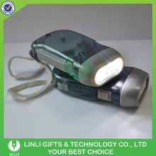 Plastic Custom Logo Dynamo Hand Crank Flashlight,Hand Dynamo Self Charging Flashlight