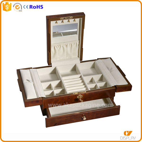 luxury unique wooden matt finished lacquer jewelry box parts