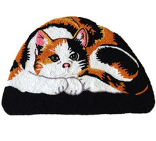 LAGHCAT New Cute a semicircular Cat rugs Shaped Bedroom Area Rug floor mats,Art carpet Tabby Cat carpet