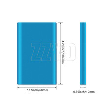 2018 Portable Ultra Thin Slim 5000mAh External Battery Power Bank Cell Phone USB Charger