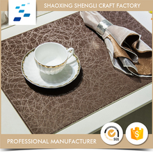 Advertising fashionable Eco-friendly Leather square glass coasters