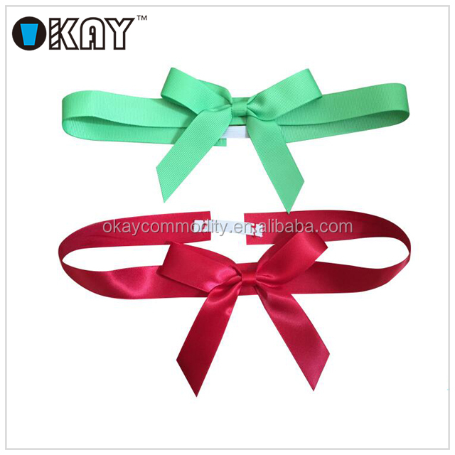 Free Samples Custom Ribbon Bows with Elastic loops for chocolate box