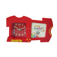 Shantou Promotive Gifts Football T-Shirt Funny Kids Alarm Clock With Picture Frame