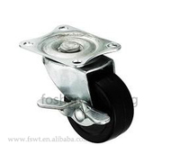Light duty top plate swivel small cart side mount caster wheel
