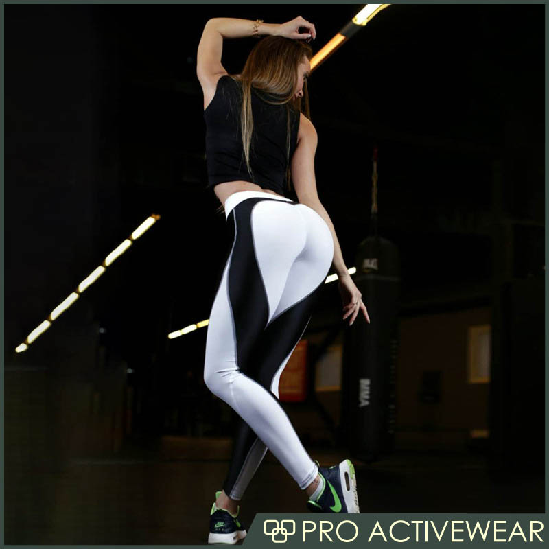 Latest design polyester mesh patterned sports leggings bamboo yoga pants for women