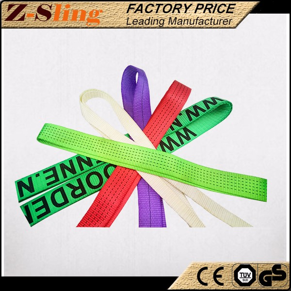 Z-Sling polyester Single-Ply Webbing Sling for tools lifting