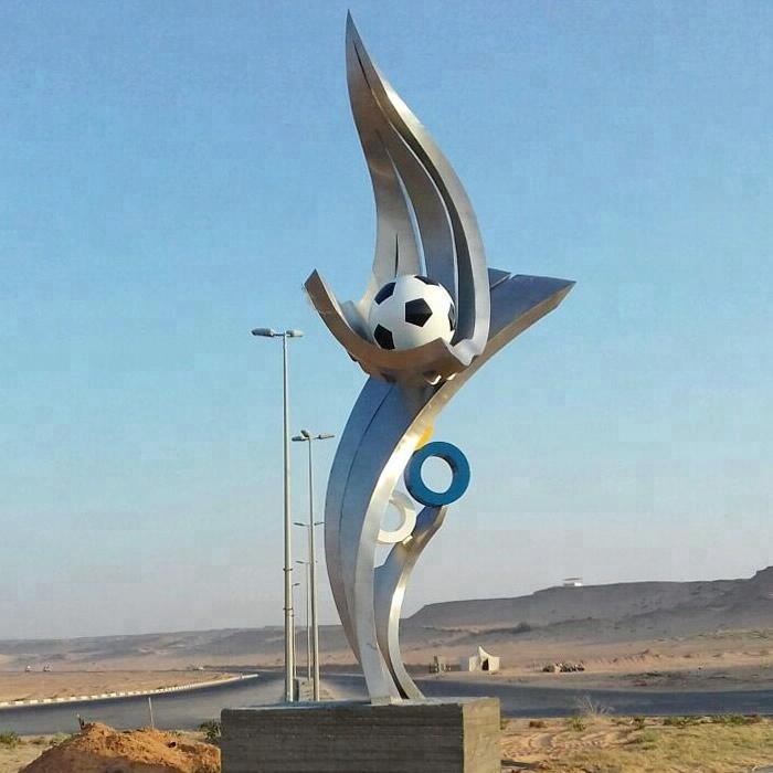 stainless steel World Cup football sculpture award