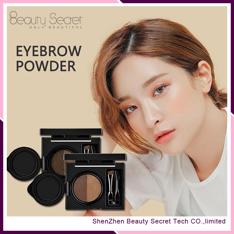 Double color waterproof eyebrow powder kit,double ended eyebrow pencil & brush