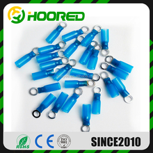 HOOYEE 16 - 14 Gauge Heat shrink Ring Terminal Size # 5 / 16 Blue ( 100 PCS )