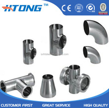 304 316 4 inch 6 inch welded stainless steel sanitary welded pipe fittings elbow/reducer/flange 12 inch