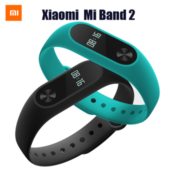 2016 New Arrival Xiaomi Mi Band 2 OLED display touchpad heart rate monitor Bluetooth 4.0 fitness tracker