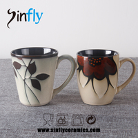 New design stock glaze ceramic coffee cup promotion cup