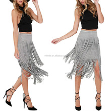 Wholesale Young Women's Summer Photos Tassel Sexy Skirts Junior Teens Girls Comfort Fit Short Skirts for Dance Clothing Skirts