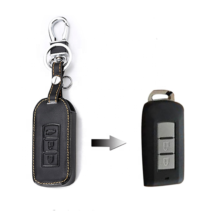 Car Key Cover Case Car Styling Cover for Mitsubishi Outlander Lancer 10 Pajero Sport ASX RVR L200 Smart key holder
