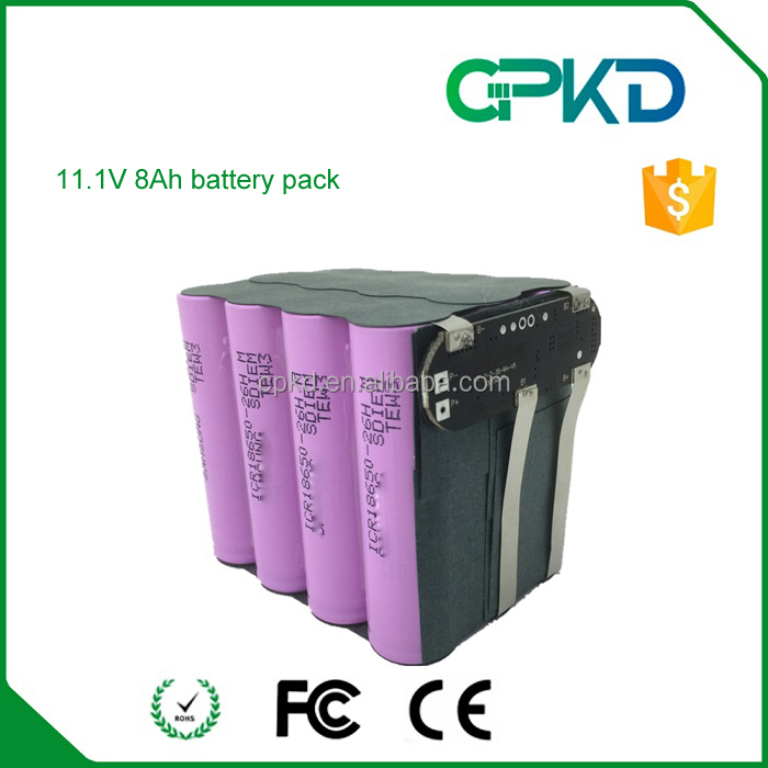11.1V 8000mah back up battery lithium ion cell 18650
