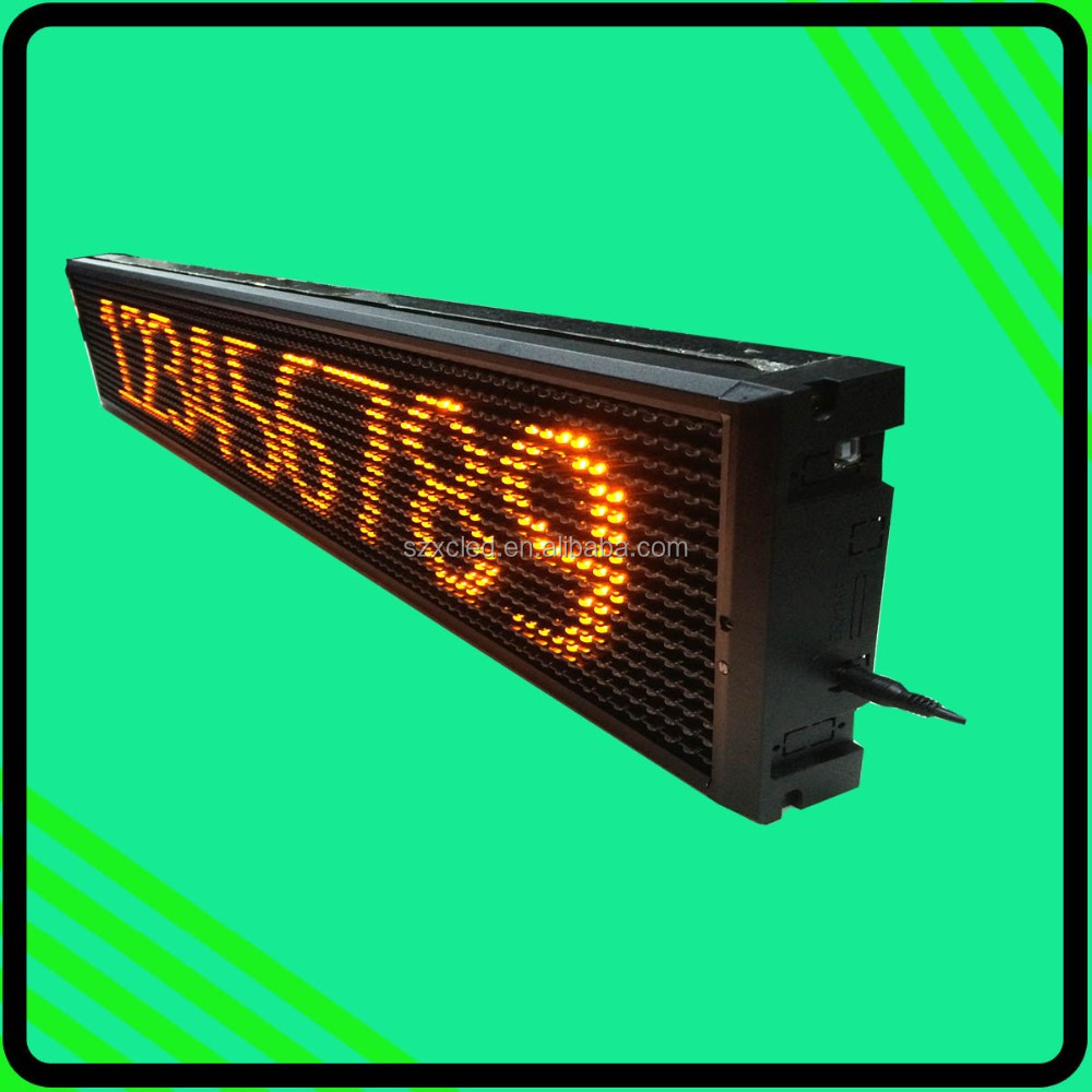 Semi-outdoor Bluetooth Single line 16*96 LED Bus scrolling message display panel