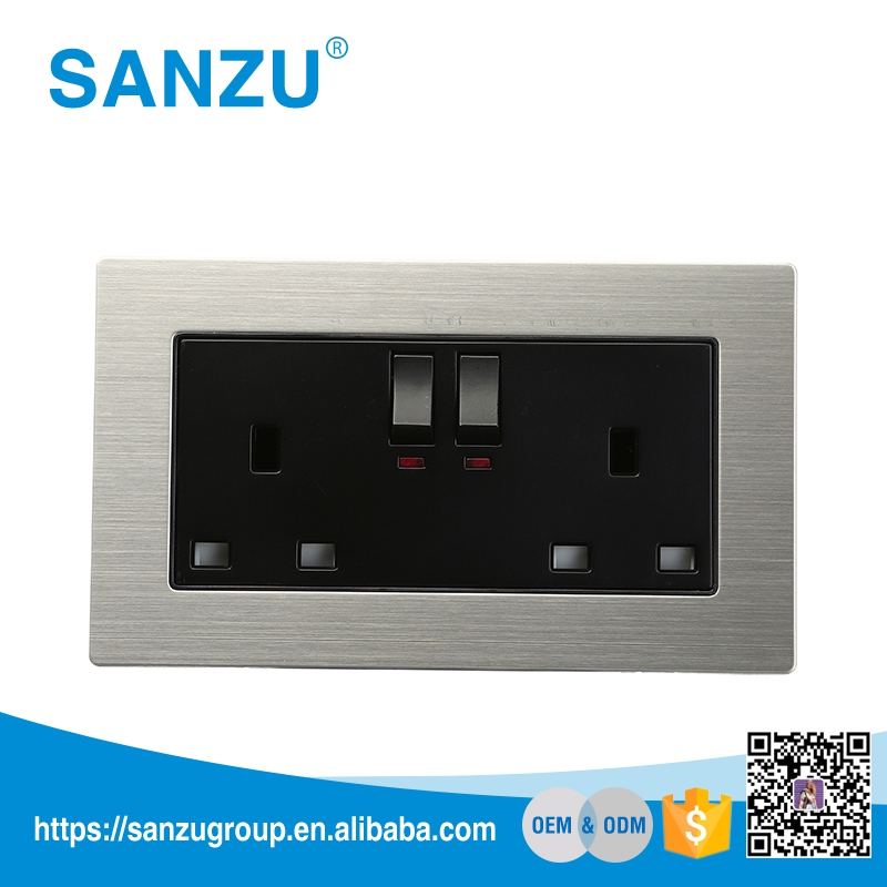 High quality wall socket outlets electric switch and socket modern wall power socket