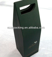 black wine carrier box with handle hole