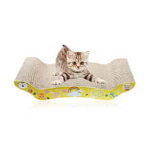 Wave Curved cardboard cat scratcher with catnip