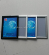 25mm profile aluminum snap frame with a4 paper size clip frame display
