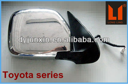 auto mirror manufactory, customized hiace chrome parts for toyota