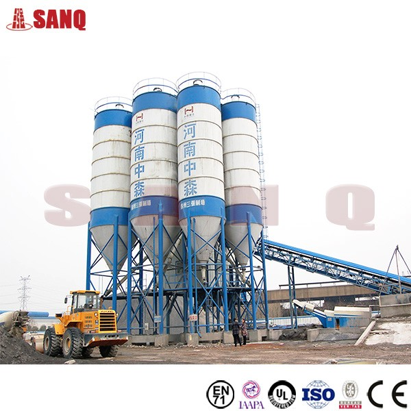 HZS120 Stationary Concrete Batching Plant, 120m3 Ready Mix Concrete Plant for sale