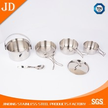6pcs professional stainless steel well equipped kitchen cookware set