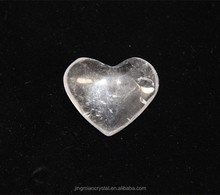 2014 Wholesale High Quality Customize Pure NATURAL Stone Crafts Clear Quartz Crystal Healing Love Hearts