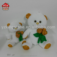 teddy bear with golden rose for valentine's day