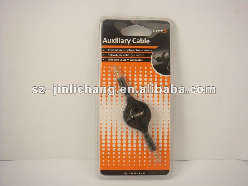 Heat Sealed Blister electronic packaging for Auxiliary Cable