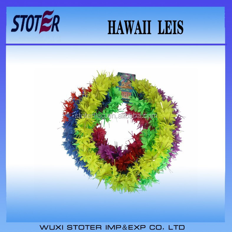 Party Flower Hawaii Lei For Decoration , Multicolor Flower Leis